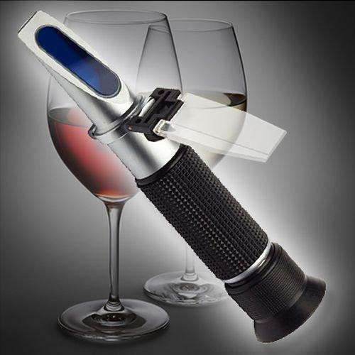 OCS.tec Alkohol Refraktometer 0-80 Vol% Winzer Kellerei Korn Schnaps Brauer Alkoholgehalt R01