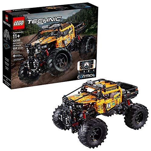 LEGO- Technic Power Functions Fuoristrada X-treme 4 x 4  Giocattolo con Funzioni Elevate Controllate dall'App, Multicolore, 42099