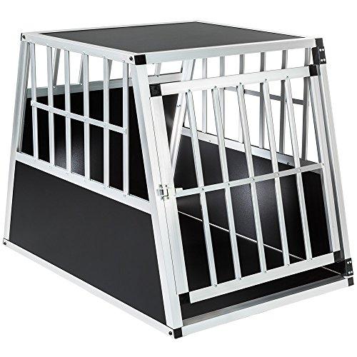 TecTake Box per Trasporto Cani Alluminio trapezoidale - Modelli Differenti - (66x90x69,5cm | No. 401623)