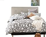 Swanson Beddings Leafy Vines 3-Piece 100% Cotton Bedding Set: Duvet Cover and Two Pillow Shams (Queen)
