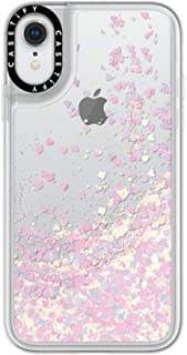 Casetify Pink Glitter iPhone XR Case with Unicorn Pink Floating Glitter Sparkle in Liquid Clear Back and Shockproof Drop P...