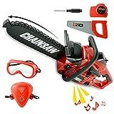 Herramienta de juguete motosierra, juego de construcción para niños, juego de sierras, juguete para jugar al aire libre, herramientas de juguete de césped para niños pequeños