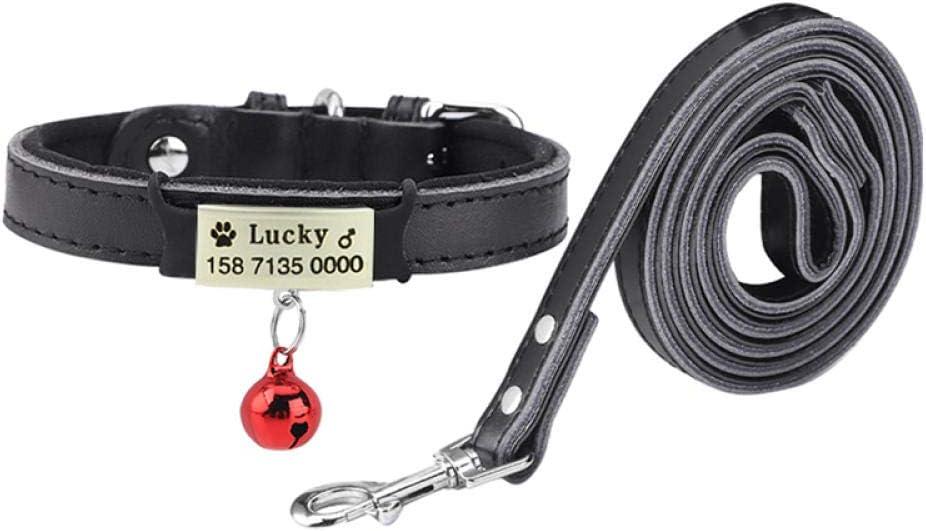 Yisatann Dog Direct stock discount Collar Leash Small Medium Bombing free shipping Leather Na Pet