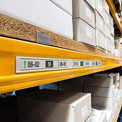 Durable 803919 Scannerschienen Scanfix inkl. Etiketten, 1000 x 40 mm, transparent, 25 Stück