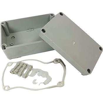 Caja de conexión impermeable de plástico, caja de conexiones Único gris: Amazon.es: Electrónica