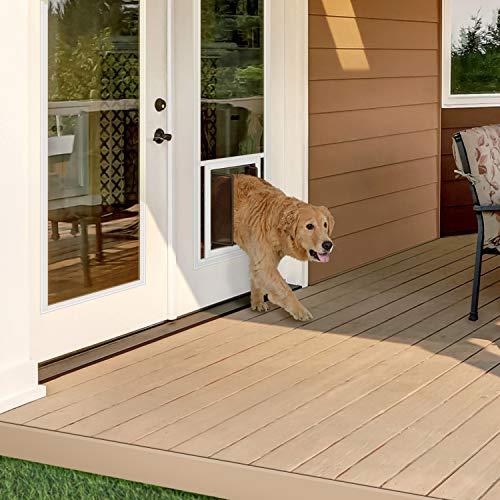 PlexiDor Dog Door 24 in. X 66 in. LoE Glass Insert for 32, 34 & 36 in. X 80 in. French Doors