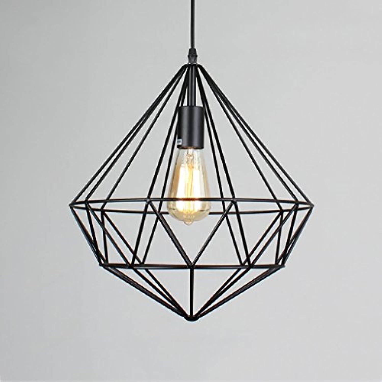 ZJPSMILE Cafe Kreative Geometrie Eisen Birdcage Kronleuchter Retro Study Restaurant Bar Bekleidungsgeschft Diamond Lights (Farbe   B)
