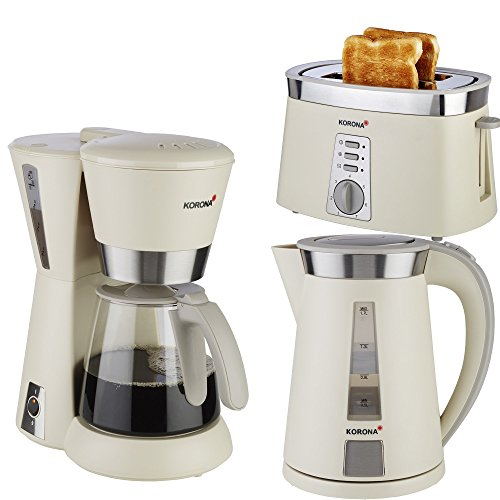 Frühstücksserie im trendigen sandgrau/Edelstahl Design 3 Geräte=1Preis!!