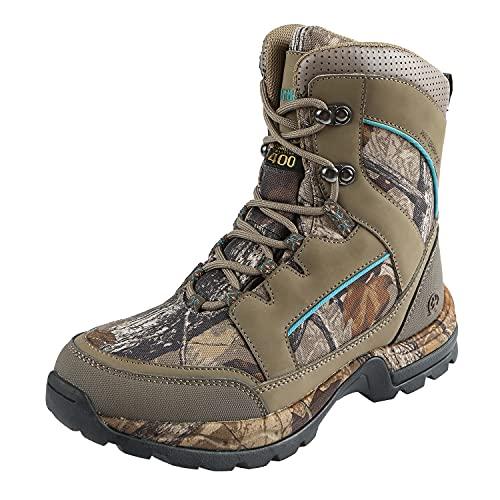Northside womens Woodbury 800 Hunting Shoes, Stone/Aqua, 7 US