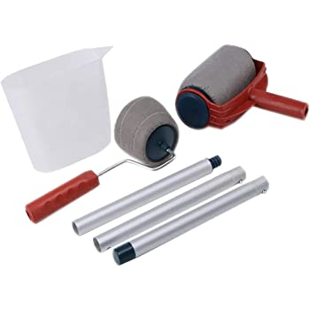 #1 cepillo de rodillo de mano Pro Flocked Edger para pintar en la pared Kit de herramientas Juego de rodillos de pintura FINIVE