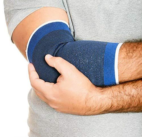 2 gomitiere elastiche, tutore gomito, supporto gomito per tendinite per uomo e donna