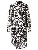 APART Fashion Longbluse Blusas, Crema-marrón Oscuro, 44 para Mujer