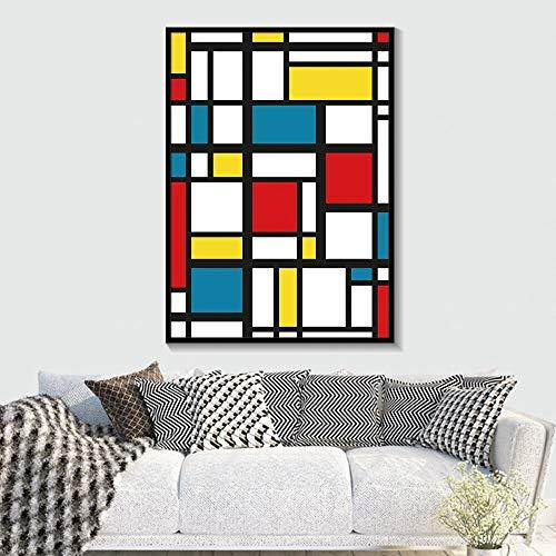 Geiqianjiumai Abstract minimalisme geometrische canvas posters en afdrukken muurkunst wooncultuur muurschildering slaapkamer frameloos schilderij