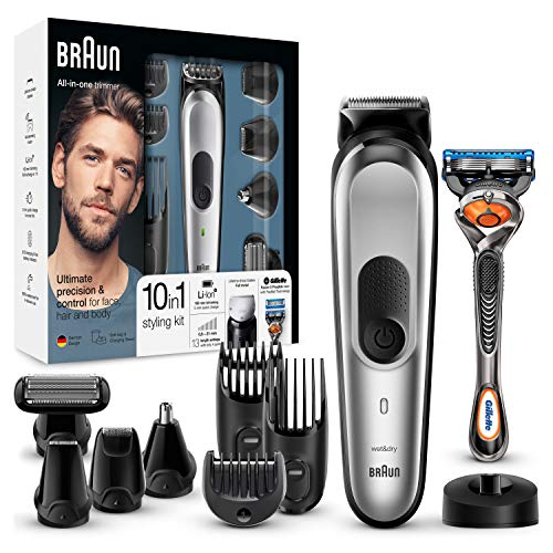 Braun 10-in-1 Multi-Grooming-Kit MGK7020 – Bartpflege Set für Herren mit Barttrimmer, Körperhaartrimmer,...