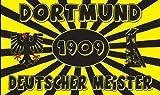 Dortmund Deutscher Meister Fussball Fahne Flagge Grösse 1,50 x 0,90m mit Ösen - FRIP –Versand®