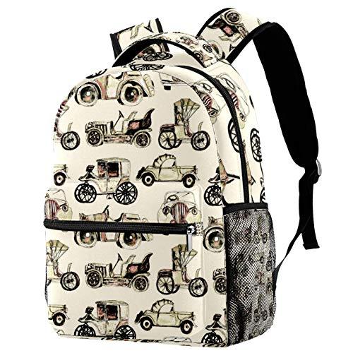 Mochila escolar de 12 pulgadas, bolsa de viaje para mujeres y hombres, osos en el jardín