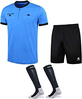 KELME Pro Soccer Referee Jersey Bundle - Includes Referee Jersey, Shorts and Socks