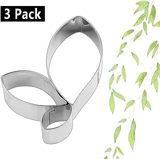 Yunko Set of 3 Tree Leaves Shape Cutter Decor Fondant Cookie Cutters