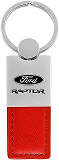 Au-Tomotive Gold, INC. Ford F-150 F150 Raptor Red Leather Car Fob Key Chain Ring