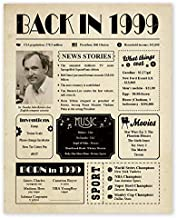 Back in 1999 Poster - 22nd Birthday Party Decorations - 22nd Birthday Gifts for Women or Men - 22nd Birthday Gift Ideas for 22 Year Old Woman or Men - Centerpieces for Table Decor - [Unframed 8x10]