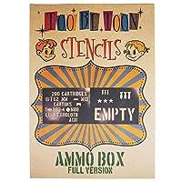 ステンシルシート AMMO BOX(弾薬箱) (FULL VERSION)