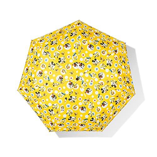 Protección Solar Y Protección Tres Plegas De Dibujos Animados Niños Paraguas Plegables Paraguas (Color : DY 2 003 B)