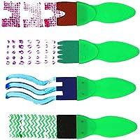 TOP-MAX - Kit di pennelli in spugna, kit di pennelli per pittura per bambini, per apprendimento precoce per bambini, kit di pittura fai da te per imparare i bambini, 56 pezzi #3