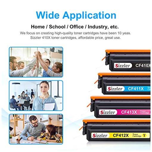 Sizzler Compatible 410X Cartuchos de tóner Reemplazo para HP 410X 410A Toner Cartuchos para HP Color LaserJet Pro M477… 5