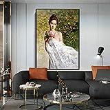 Kunst berühmte chinesische Ölgemälde Keramik Mädchen Poster und Leinwand Wohnzimmer...