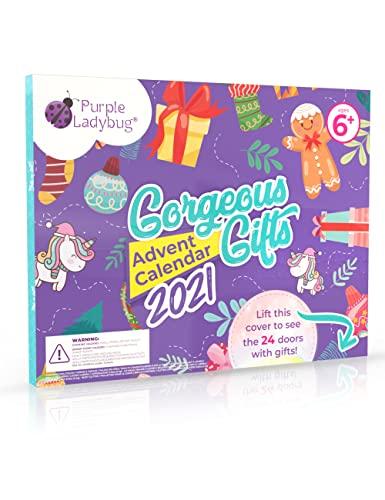 Purple Ladybug 2021 Advent Calendar for Girls with...