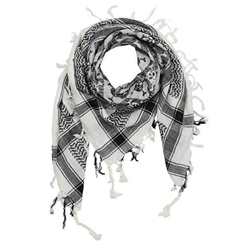 Superfreak Palituch - Totenköpfe kariert weiß - schwarz - 100x100 cm - Pali Palästinenser Arafat Tuch - 100{1e397ba6feae195c40726ac1b7a137382e55a7548f1b9af74ef9ff2af0b78303} Baumwolle