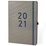 Boxclever Press Perfect Year A4 2021 Diary Day to Page. New A4 Diary 2021! Stunning Daily Planner 2021 Runs Jan - Dec'21 with Monthly Tabs, Note Pages & More. The Perfect Desk Diary 2021!