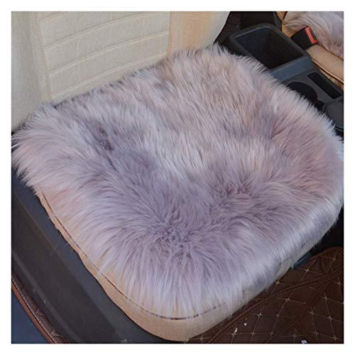 45 * 45cm de lujo auténtico gracioso agosto lana cubierta de asiento de piel natural de piel de oveja de coches for el automóvil Interior Accesorios cojín de asiento mat ( Color Name : 1pcs purple )