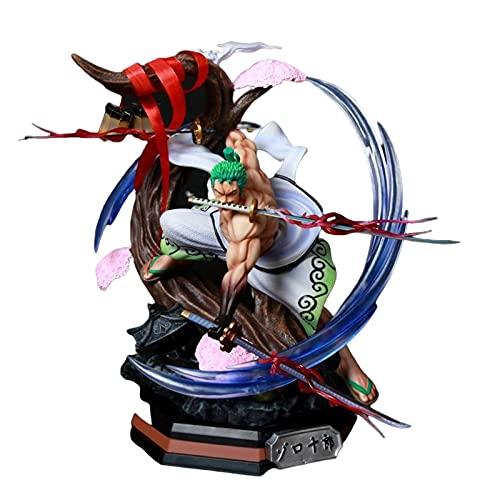 Anime One Piece Wano Country Roronoa Zoro Coltello Da Neve Ver.Con La Luce Del Pvc Action Figure Statue Da Collezione Model Toys Doll 39Cm