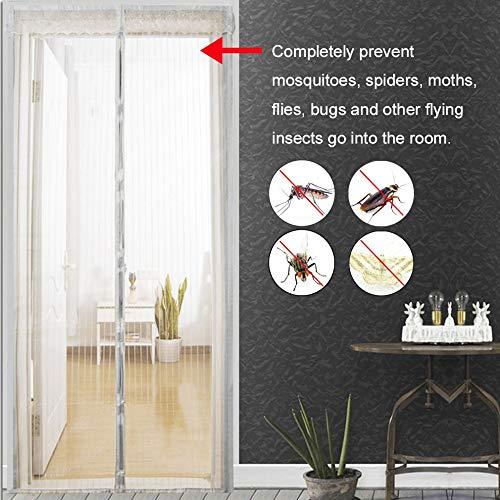 Sommer Anti-Mückenfliege Insekten Vorhang Magnetnetz schließt automatisch Tür Bildschirm Fenster Küchennetz Vorhang A2 B100xH210