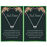 Your Always Charm Soul Sister Necklaces for 2 Best Friendship Necklace for Best Friends(Silver Set)
