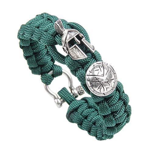 Braccialetto unisex casual in paracord, braccialetto intrecciato per sport di emergenza, casco per...