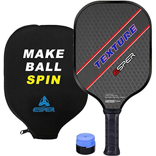 Pickleball Paddle Graphite for Spin Textured Granular Surface Pickleball Racquet