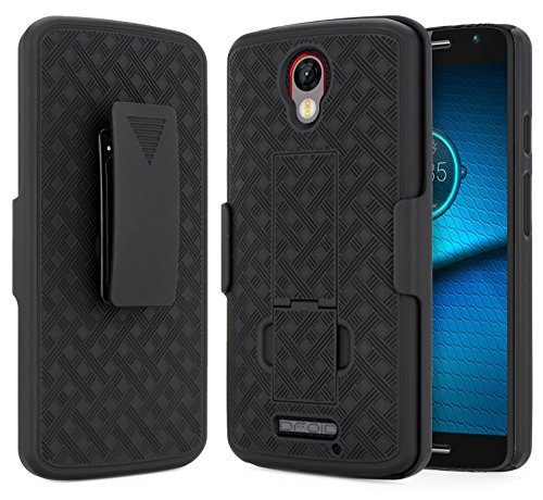 Droid Turbo 2 Case (Verizon), NageBee Combo Shell & Holster Case Super Slim Shell Case w/Built-in...