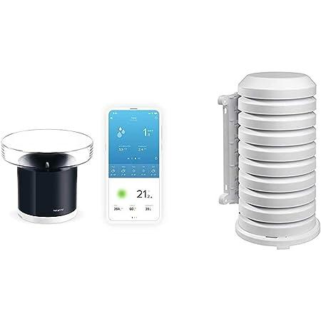 Netatmo Pluviometro Wireless per la Stazione Meteo, NRG01-WW & Protezione Tfa per Trasmettitore Esterno 98.1114.02