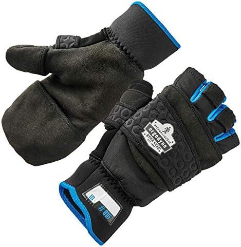 Fingerless Winter Work Glove with Flip Top Mitten Thermal Fleece Lined Ergodyne ProFlex 816 product image