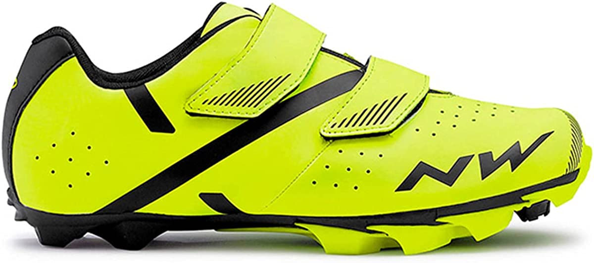 Northwave Yellow Fluorescent-Black 2019 Spike Popular standard MTB Shoe US 2 Challenge the lowest price of Japan ☆