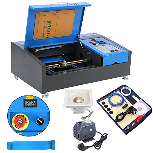 Samger Máquina de Grabado Láser 300x200mm 40W CO2 Laser Engraver Cutting Machine con bomba de agua con puerto USB Grabador de Láser para Madera Metal Material Plástico
