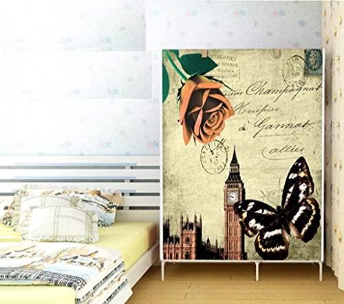 Armadio a combinazione di teiere armadio semplice – armadio in tessuto non tessuto, per rafforzare l'armadio, organizer per vestiti, organizer per guardaroba, 104,9 x 45 x 169,9 cm Liuyu.