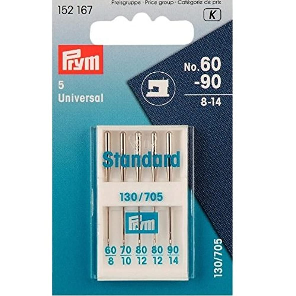 Prym 152167 Sewing machine needles with flat shank