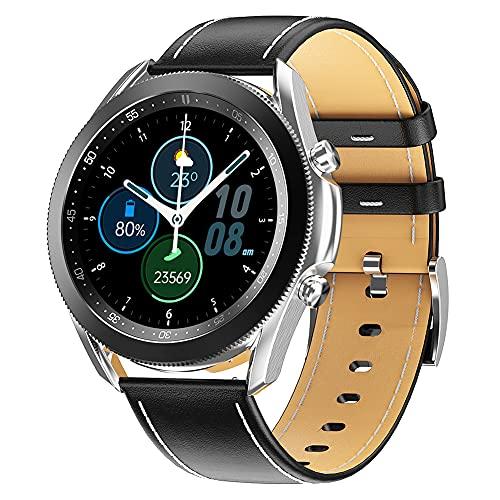 Hainice Llamadas Inteligente Aptitud del Reloj Reloj del perseguidor Impermeable de los Deportes W3 Inteligente Bluetooth de Banda Hombres Mujeres Plata