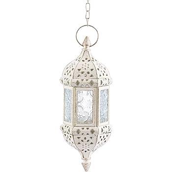 Petite Lanterne marocaine d/écorative Lalita rouge 41cm Photophore marocain pour l/'ext/érieur au jardin ou l/'int/érieur sur la table Lanternes pour bougie d/écoration de maison orientale
