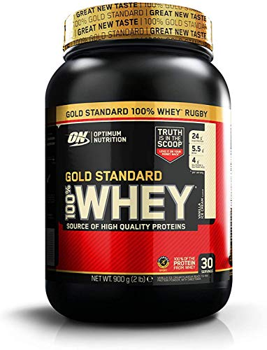 Optimum Nutrition 100 Percent Whey Gold Standard Sports Supplements, 908 g, Vanilla Ice Cream