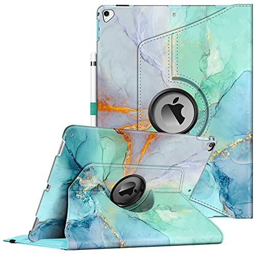 Fintie Rotating Case for iPad Pro 12.9-inch 2017/2015 (Old Model, 2nd & 1st Generation), 360 Degree Swiveling Stand Protective Back Cover, Supports Auto Wake/Sleep, Emerald Marble is $27.99 (30% off)