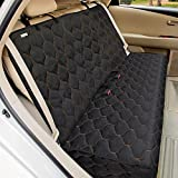 BABYLTRLL Dog Car Seat Cover Waterproof Pet Bench Seat Cover Nonslip and Heavy Duty Pet Car Seat Cover for Dogs with Universal Size Fits Cars, Trucks and SUVs (56' W x 49' L, Black)